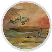 De Havilland Dh9 Round Beach Towel by Ray Agius