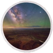 Round Beach Towel featuring the photograph Dead Horse Dreams by Darren White