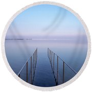 Round Beach Towel featuring the photograph The Dead Sea by Yoel Koskas