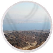 Dead Sea-israel Round Beach Towel