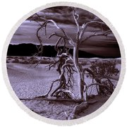 Round Beach Towel featuring the photograph Dead Tree In Death Valley 6 by Micah May