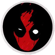 Deadpool Round Beach Towel by Kyle J West