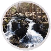 Deans Ravine Round Beach Towel by Catherine Gagne