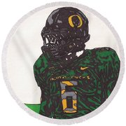 De'anthony Thomas 2 Round Beach Towel by Jeremiah Colley