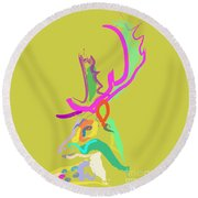 Dear Deer Round Beach Towel