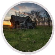 Round Beach Towel featuring the photograph Dearly Departed by Aaron J Groen