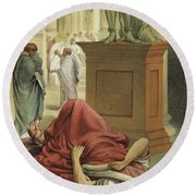 Death Of Julius Caesar, Rome, 44 Bc  Round Beach Towel