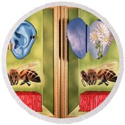 Death Of The Canadian Bee Round Beach Towel