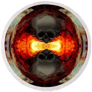 Death Orb Round Beach Towel
