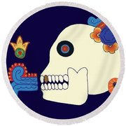 Death The Advisor Round Beach Towel