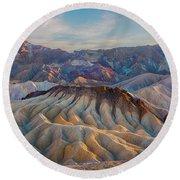 Death Valley Palette  Round Beach Towel