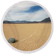 Death Valley Ractrack Round Beach Towel