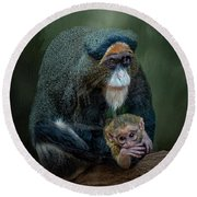 Debrazza's Monkey And Baby Round Beach Towel