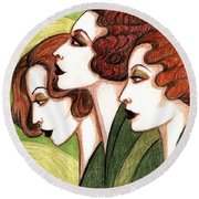 Debutante Trio Round Beach Towel