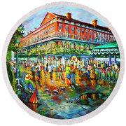Decatur Evening Round Beach Towel