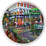 Decatur Street Round Beach Towel