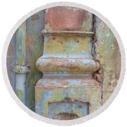 Round Beach Towel featuring the photograph Decay by Jean luc Comperat