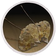 Decaying Leaves Round Beach Towel by Joe Bonita