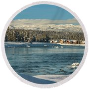 December Dream Round Beach Towel