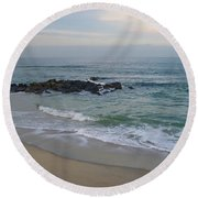December Evening Round Beach Towel