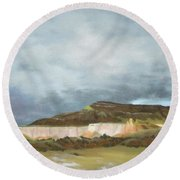 December In Abiquiu Round Beach Towel