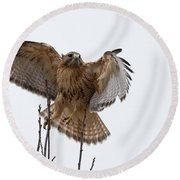 Decisive  Moment Round Beach Towel