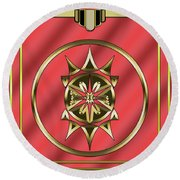 Round Beach Towel featuring the digital art Deco 26 - Chuck Staley by Chuck Staley
