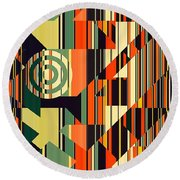 Deco Abstract 1  Round Beach Towel