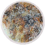 Round Beach Towel featuring the painting Decomposition  by Joanne Smoley