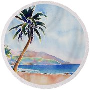 Decompress  Round Beach Towel