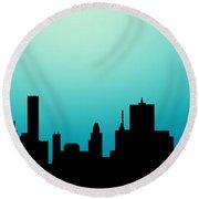 Decorative Abstract Skyline Houston R1115a Round Beach Towel