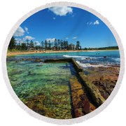 Dee Why Rock Pool Round Beach Towel