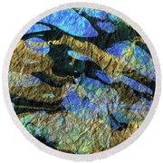 Deep Blue Abstract Art - Deeper Visions 1 - Sharon Cummings Round Beach Towel