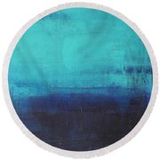 Deep Blue Sea Round Beach Towel by Nicole Nadeau