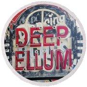Deep Ellum Dallas Texas Round Beach Towel