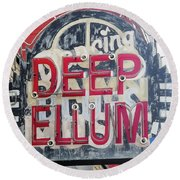 Deep Ellum Dallas Texas Round Beach Towel