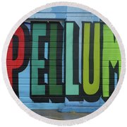 Deep Ellum Wall Art Round Beach Towel