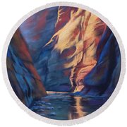 Deep In The Canyon Round Beach Towel