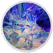Round Beach Towel featuring the photograph Deep In The Forest by Joyce Dickens