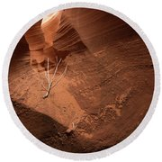 Deep Inside Antelope Canyon Round Beach Towel
