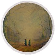 Deep Into The Forest Round Beach Towel
