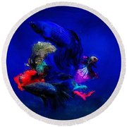 Deep Oceans Round Beach Towel