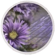 Deep Purple Round Beach Towel