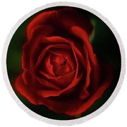 Deep Red Passion Round Beach Towel