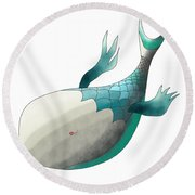 Deep Sea Fish Round Beach Towel