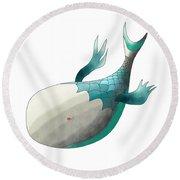 Deep Sea Fish Round Beach Towel