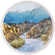 Deep Within The Alabama Hills Round Beach Towel
