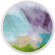 Deepest Breath- Abstract Art By Linda Woods Round Beach Towel