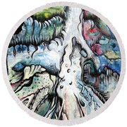 Deeply Rooted IIi Round Beach Towel