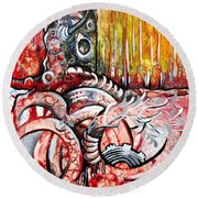 Deeply Rooted Viii Round Beach Towel